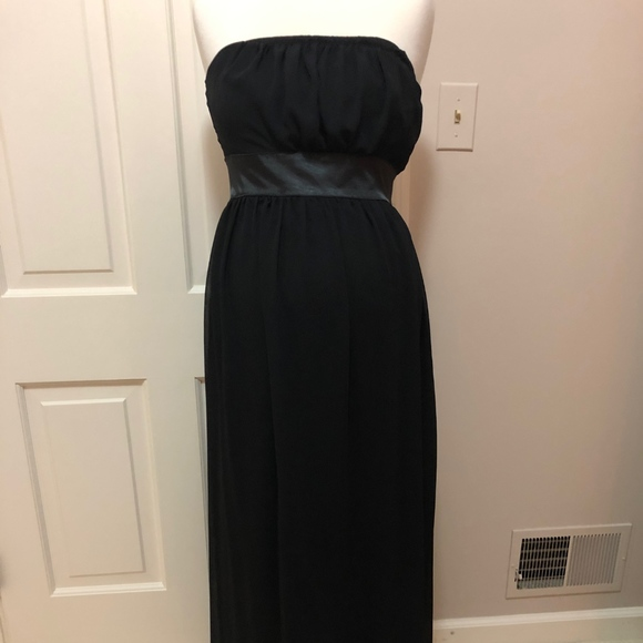 Maternite Black Long Tube Dress